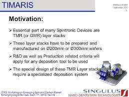 design criteria tmr singulus ndt september itrs workshop on emerging spin and carbon