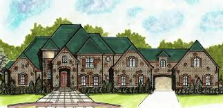 european house plan with porte cochere 13498by architectural