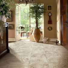 Peel And Stick Laminate Floor Trafficmaster Groutable 18 In X 18 In Light Travertine Peel And