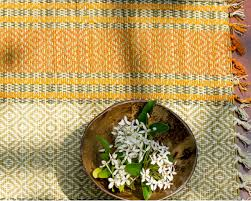 table runner or placemats madur kathi natural fibre orange placemats and table