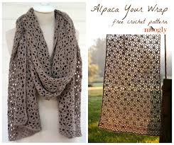 crochet wrap alpaca your wrap free crochet pattern on moogly