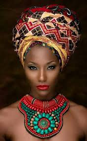african women necklace images Black queen ankara headwrap beaded necklace love jpg