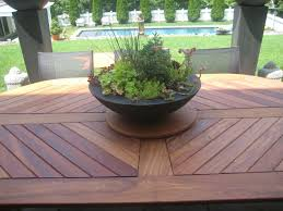 hand crafted outdoor teak table by j r signature creations