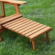 Patio Chair With Ottoman Coral Coast Big Daddy Reclining Tall Wood Adirondack Chair With