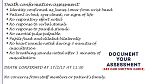 death confirmation osce guide geeky medics