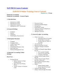 sap fico course contents debits and credits financial accounting