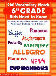240 vocabulary words 6th grade kids need to know 24 ready to