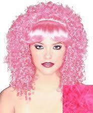 Effie Halloween Costume Effie Trinket Wig Pink Costume Hunger Games Curls Short