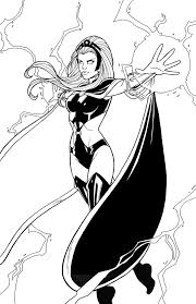 storm superhero coloring pages download print free
