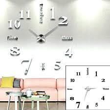 montre de cuisine horloge moderne horloge de cuisine moderne trendy diy 3d horloge