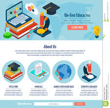 Design Online Education   one page online education design stock vector illustration of