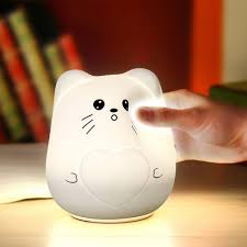 color change cat silicone led light in white