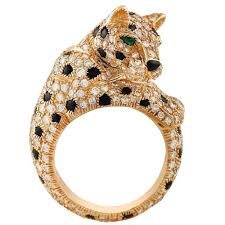 cartier rings images Cartier onyx emerald diamond gold panthere ring at 1stdibs jpg