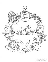 coloring pages charming winter coloring page january pages for
