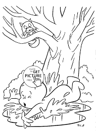 falls coloring pages for kids printable free casper cartoon