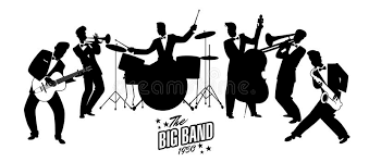swing jazz jazz swing orchestra r礬tro type illustration de dessin anim礬