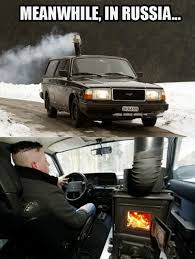 Russian Car Meme - i would want it in the winter but summer would be a bitch