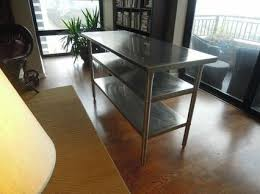 Stainless Kitchen Table by Stainless Steel Kitchen Work Table