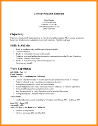 Resume Objectives For Clerical Positions Sample Clerical Resume Sample Resume For Clerical Sample Clerical