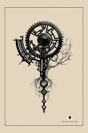 collection of 25 steampunk tattoo