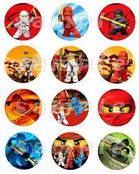 ninjago cake toppers lego ninjago set of 12 personalized stickers or cupcake