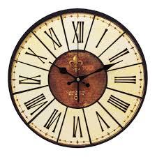 pendule murale cuisine yesurprise pendule murale en bois mdf rond horloge diy vintage