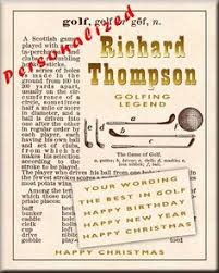Decorative Definition Golf Decor Gift For Golfer Golf Poster Golf Art Vintage