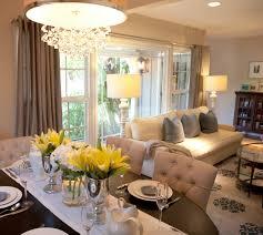 Small Dining Room Decor Ideas - stunning tonal open dining living area dark oval espresso dining