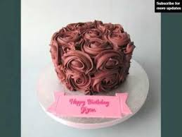 Chocolate Birthday Cakes With Roses Tasty U0026 Mouth Watering