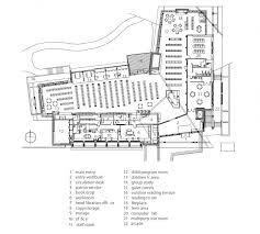 modern architecture whistler public library floor plan
