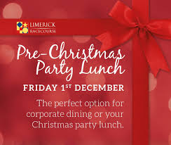 christmas party lunch on friday 1st december limerick racecourse