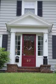 Colonial Exterior Doors 17 Best Small Front Porch Ideas Images On Pinterest Front Doors