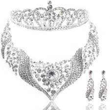 bride necklace images Fashion bridal necklace bride hair accessories jewelry set jpg