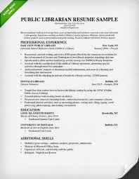 Volunteer Work On Resume Example librarian resume sample u0026 writing guide rg