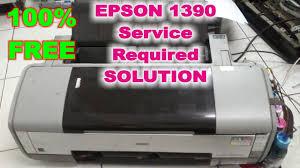 reset epson 1390 printer epson 1390 service required error red light blinking video youtube