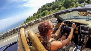 driving a porsche boxster pretty drives fast loud porsche boxster from