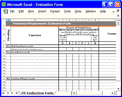 Requirements Template Excel Functional Requirement Template Instant