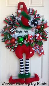 does home depot have their black friday deals on wreaths swags christmas elf wreath with hanging legs and hand painted north pole