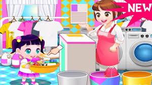 little children laundry best baby cleaning clothes games learn