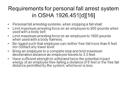 Osha Chair Requirements Falling Impact Acceleration Lifting And Vision Hazards Ppt