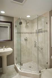 Glass Shower Bathroom Small Bathroom Corner Shower Pictures