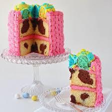 rabbit cake orange cake bunny rabbit fills an egg basket chocolate cake