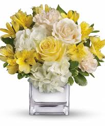 yellow and white flower arrangements floral arrangements with