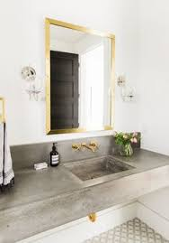 Floating Bathroom Sink by Modern Mountain Home Tour Guest Wing Concrete Sink Studio