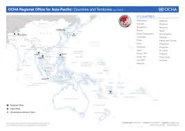 map world asia asia pacific regional reference map ocha regional office for asia