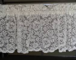 Lace For Curtains Vintage Lace Curtain Etsy