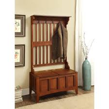 Bench Seat With Storage Linon Hall Tree With Storage Bench Walnut 18 Inch Bench Seat