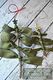 rustic ribbon tree ornaments my sweet sanity