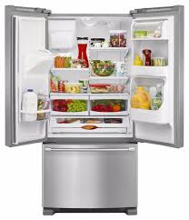 Refrigerator With French Doors And Bottom Freezer - maytag mfi2269drm 33 inch french door refrigerator with 21 7 cu
