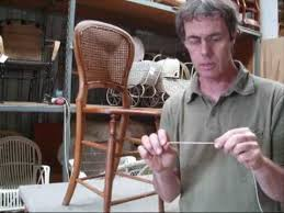 Chair Caning Instructions Chair Caning How To Pt 1 Youtube